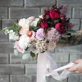 Растрепанный свадебный букет